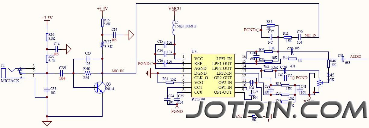 PT2399 reverberation circuit picture